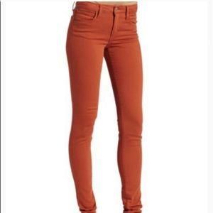 Joes Skinny Jeans in Ginger/Burnt Orange